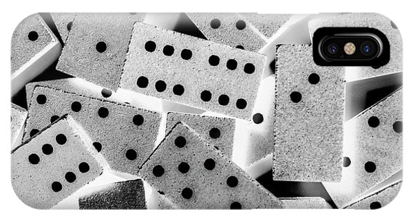 iPhone Case - White Dots Black Chips by Jorgo Photography - Wall Art Gallery