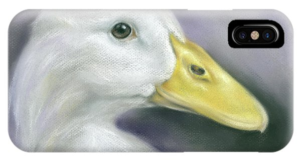 White Duck On Purple IPhone Case