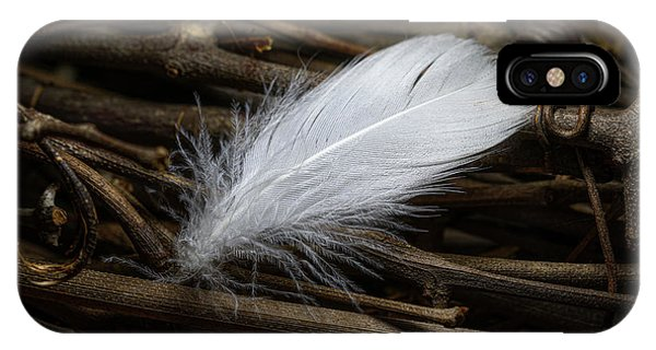 Soft iPhone Case - White Feather by Tom Mc Nemar