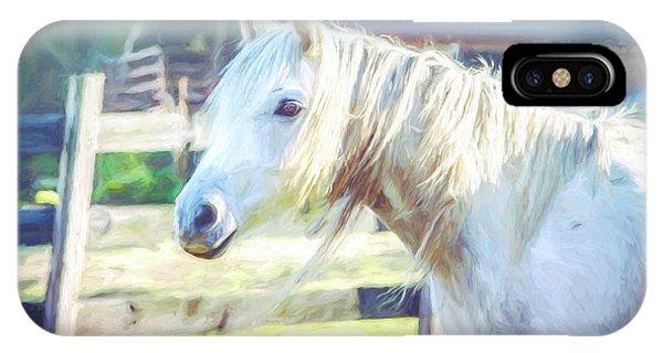 White Horse IPhone Case