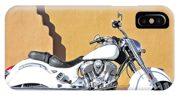 IPhone Case featuring the photograph White Indian Motorcycle by Britt Runyon