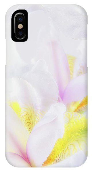 White Iris IPhone Case
