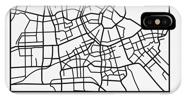 Holland iPhone Case - White Map Of Amsterdam by Naxart Studio