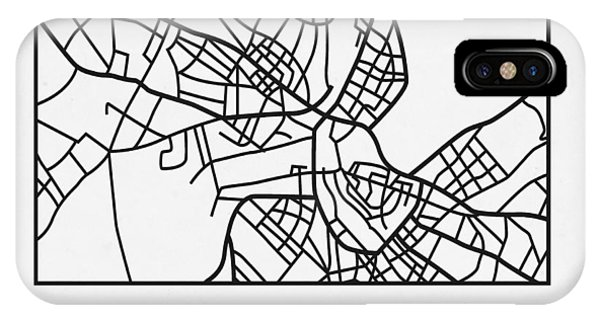 Souvenirs iPhone Case - White Map Of Havana by Naxart Studio