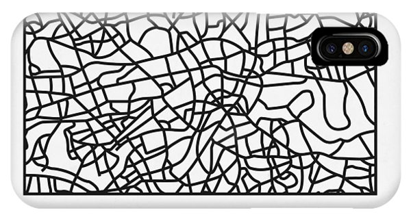 Souvenirs iPhone Case - White Map Of London by Naxart Studio