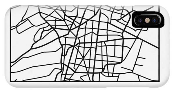 Souvenirs iPhone Case - White Map Of Mexico City by Naxart Studio