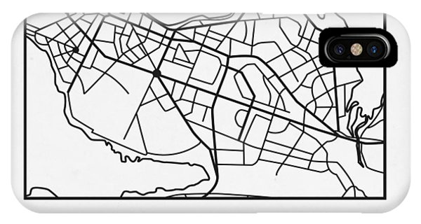 Souvenirs iPhone Case - White Map Of Reykjavik by Naxart Studio