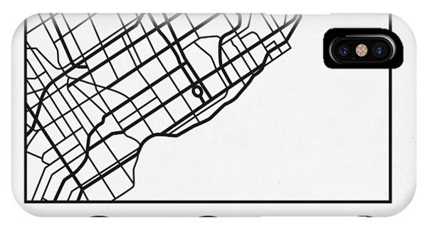 Souvenirs iPhone Case - White Map Of Toronto by Naxart Studio