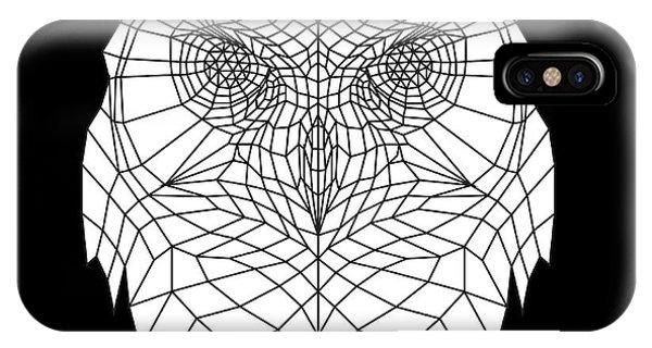 Lynx iPhone Case - White Owl by Naxart Studio