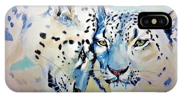 Snow Leopard iPhone Case - Snow Leopard by ArtMarketJapan