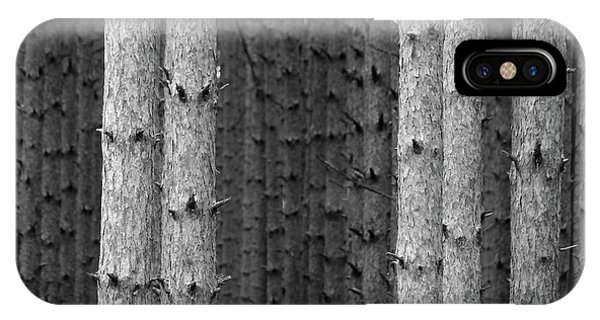 White Pines Black And White IPhone Case