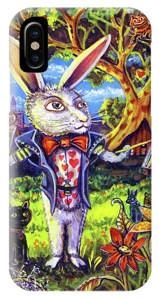White Rabbit Alice In Wonderland IPhone Case