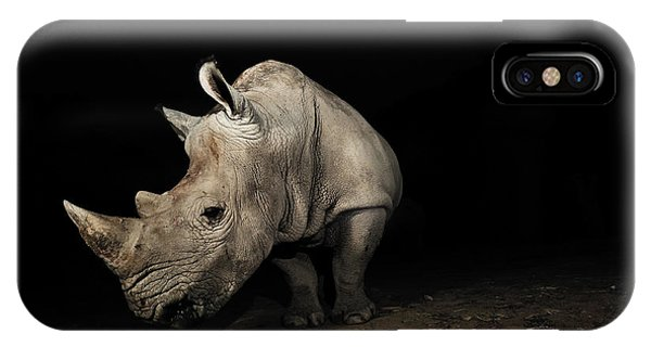 White Rhinoceros Phone Case by Signature Message