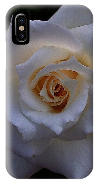 IPhone Case featuring the photograph White Rose by Jeff Iverson