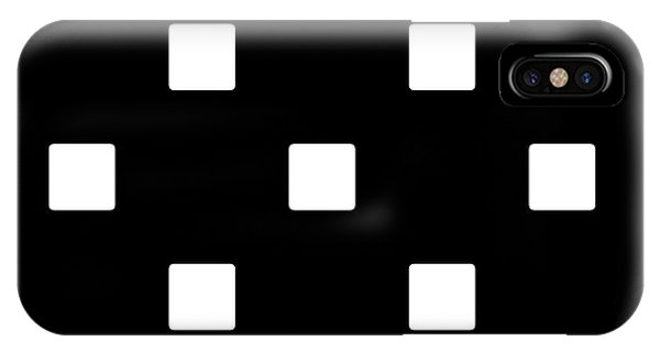 White Squares On A Black Background- Ddh576 IPhone Case