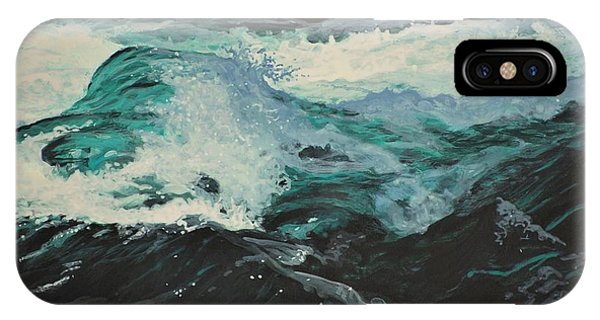 IPhone Case featuring the painting Whitewater by Peter Mathios