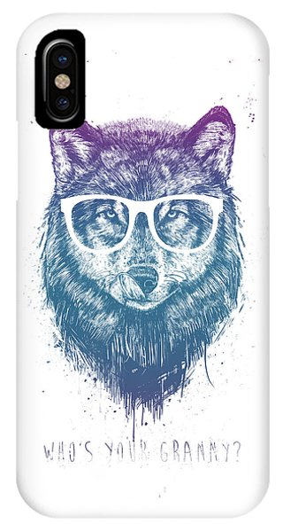 Typography iPhone Case - Who's Your Granny? by Balazs Solti