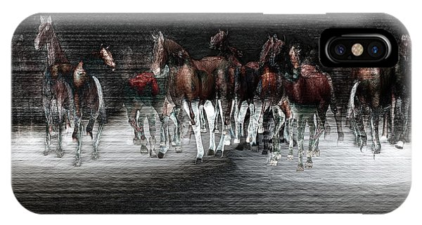 Wild Horses Under Spotlight IPhone Case