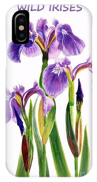 Wild Violet iPhone Case - Wild Iris Poster by Sharon Freeman