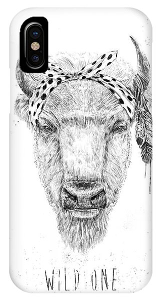 Bull iPhone X Case - Wild One  by Balazs Solti
