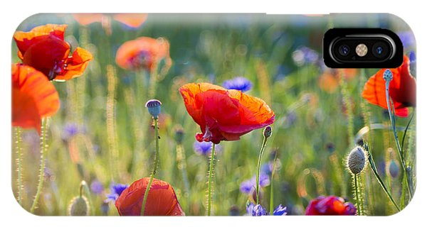Wildflowers Poppies Phone Case by Mike Mareen