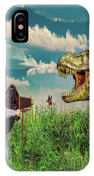 IPhone Case featuring the digital art Wildlife Photographer  by Bob Orsillo