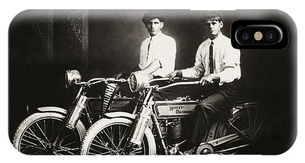 iPhone Case - William Harley And Arthur Davidson 1914 by Bill Cannon