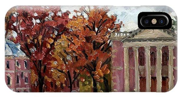 Williams College Rainy Autumn IPhone Case