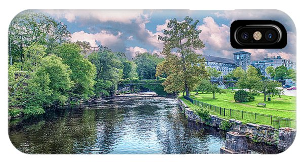 Willimantic River With Clouds IPhone Case