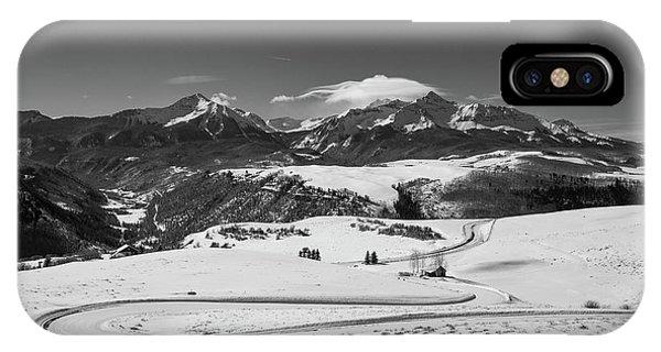 San Miguel iPhone Case - Wilson Mesa Winter Portrait by Bridget Calip