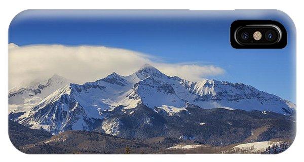 San Miguel iPhone Case - Wilson Peak In All It's Winter Glory by Bridget Calip