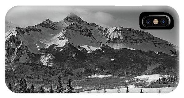 San Miguel iPhone Case - Wilson Peak Winter Panorama by Bridget Calip