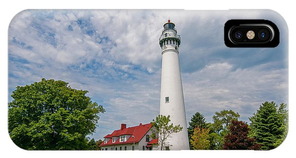 Wind Point Lighthouse No 3 IPhone Case