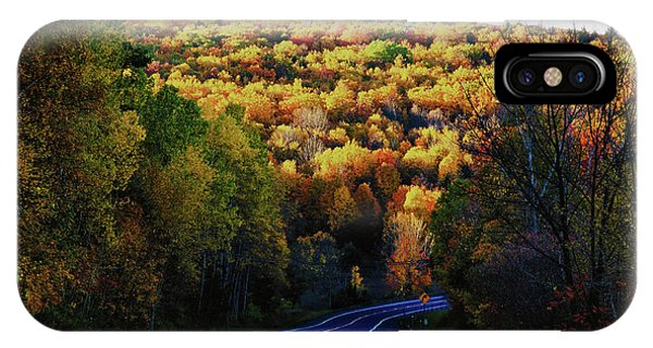Winding Through Vermont Fall Foliage IPhone Case