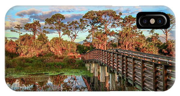 IPhone Case featuring the photograph Winding Waters Boardwalk by Tom Claud
