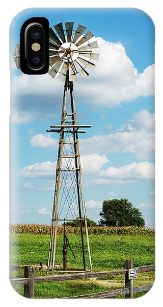 IPhone Case featuring the photograph Windmill And Pump by Edward Peterson