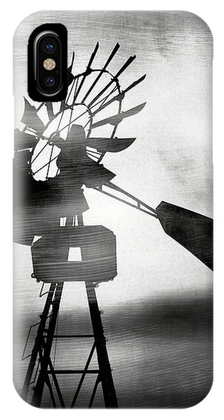 Texture iPhone Case - Windmill In The Wind- Art By Linda Woods by Linda Woods
