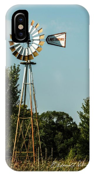 IPhone Case featuring the photograph Windmill Pump Out by Edward Peterson