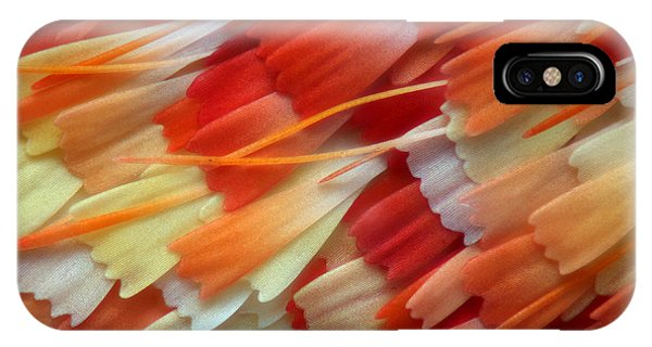 Close-up iPhone Case - Wing Scales Of A Moth Scoliopteryx At by Nikola Rahme