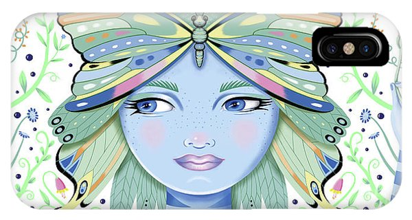 Insect Girl, Winga - White IPhone Case