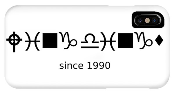 Wingdings Since 1990 - Black IPhone Case