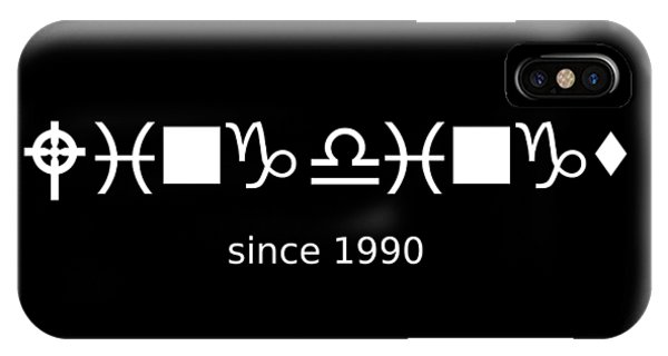 Wingdings Since 1990 - White IPhone Case