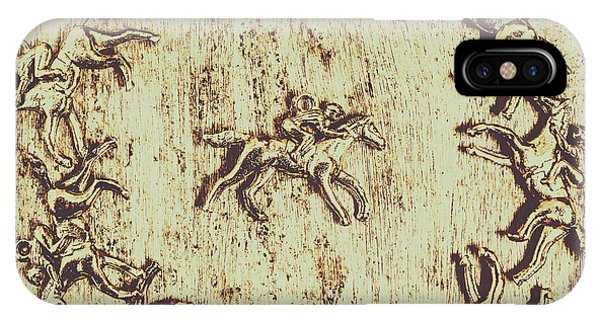 Horseman iPhone Case - Winning Picks by Jorgo Photography - Wall Art Gallery