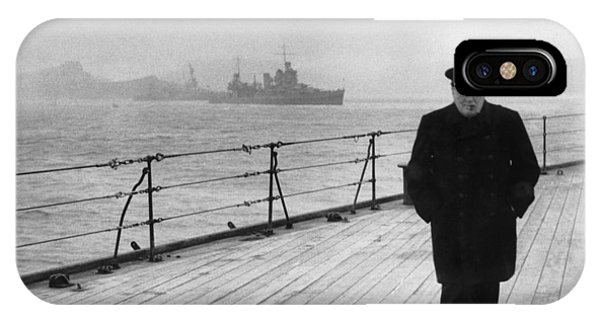 Prime Minister iPhone Case - Winston Churchill At Sea by War Is Hell Store