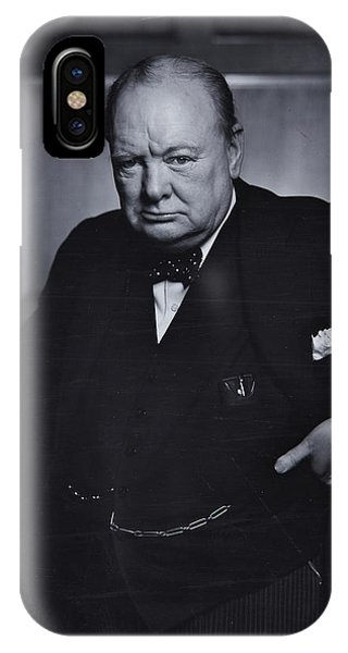 Prime Minister iPhone Case - Winston Churchill In The Canadian Parliament by English School