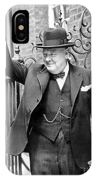 Mp iPhone Case - Winston Churchill Showing The V Sign by English School