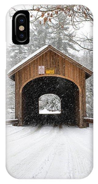 Winter At Babb's Bridge IPhone Case