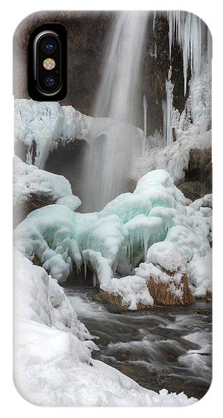 Winter At Rifle Falls Colorado IPhone Case