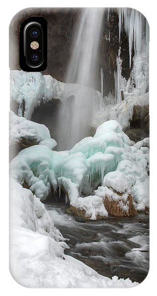 Winter At Rifle Falls Colorado IPhone Case