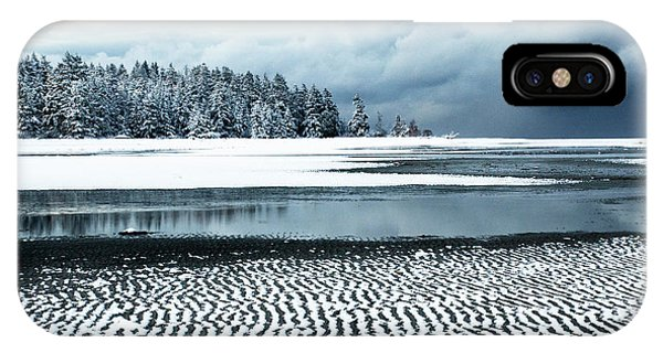 iPhone Case - Winter At The Beach 2 by Bob Christopher